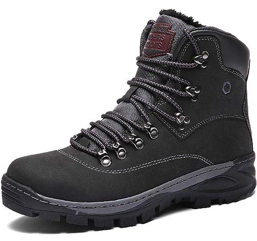 Sixspace Winterstiefel Warm Gefütterte Winterschuhe Outdoor Schneestiefel rutschfest Winter Boots Wanderschuhe für Herren Damen