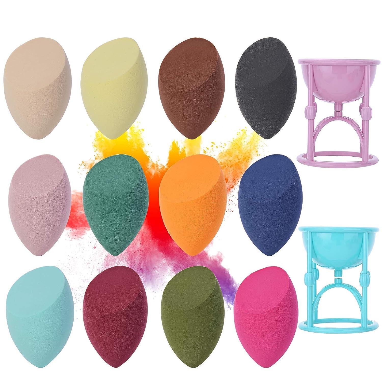 14 Pcs Set Makeup Sponges Wedge Blender Face Sponges for Makeup,Flexible Makeup Sponge Beauty Blender Soft Latex Free (Colorful)