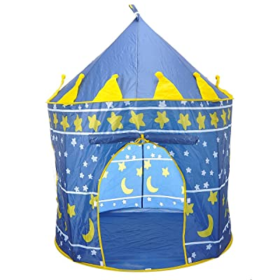 SySrion Boy's Blue Prince Castle Play Tent for Kids - Indoor / Outdoor: Toys & Games