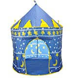SySrion Boy's Blue Prince Castle Play Tent for Kids - Indoor / Outdoor