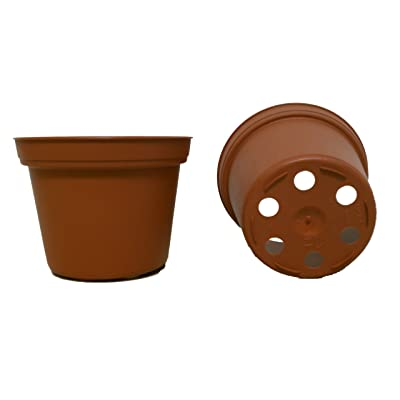 50 New 3 Inch Plastic Nursery Pots ~ Pots are 3 Inch Round at The Top and 2.25 Inch Deep. Color: Terracotta: Garden & Outdoor