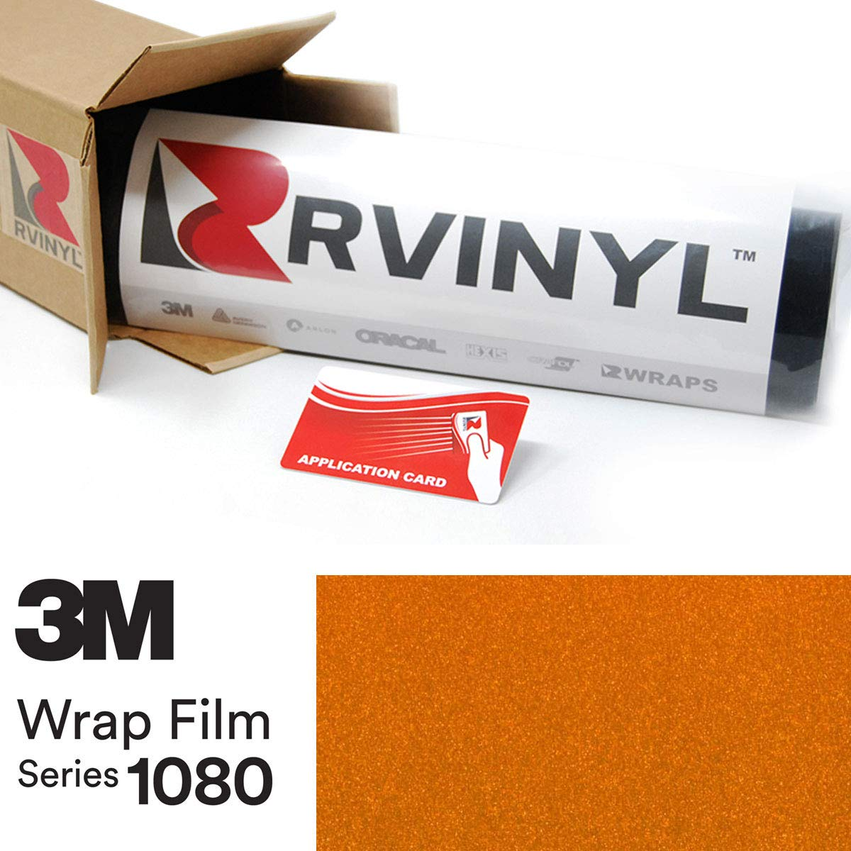 3M 1080 G344 Gloss Liquid Copper 5ft x 2ft W/Application Card Vinyl Vehicle Car Wrap Film Sheet Roll