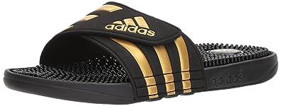 the best attitude 5934d 61f2e adidas Performance Men s Adissage Slide Sandal, Legend Ink Metallic  Gold Legend Ink,