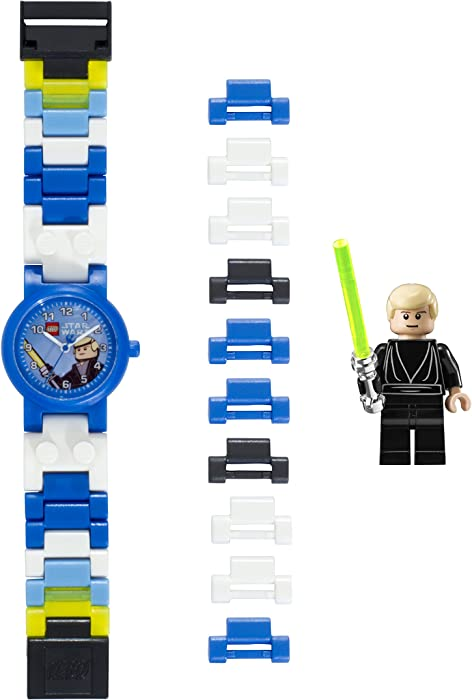 a7747c9e614d Reloj modificable infantil de Luke Skywalker de LEGO Star Wars 8020356 con  pulsera por piezas y figurita