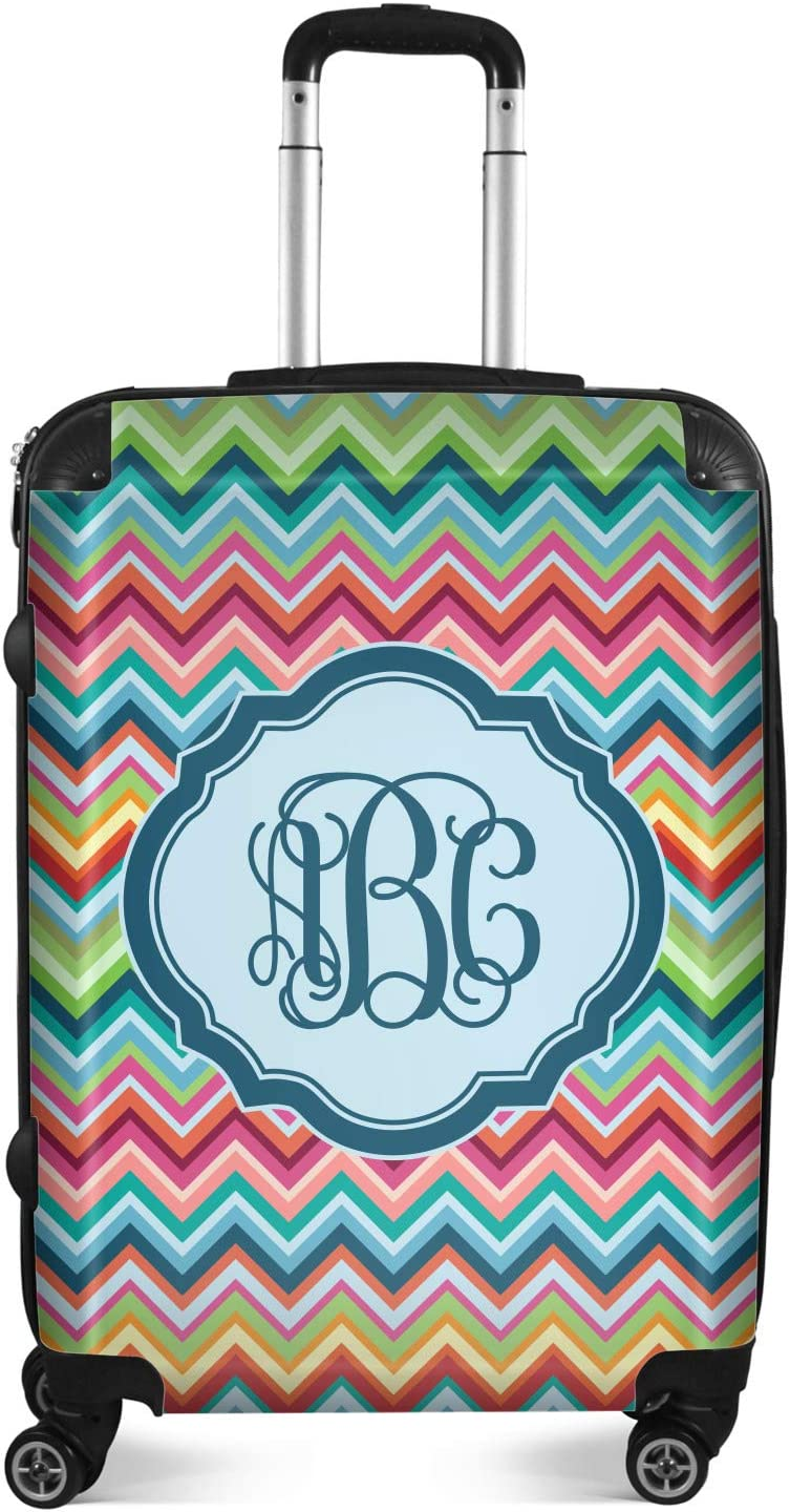 Personalized 20 Carry On Retro Chevron Monogram Suitcase