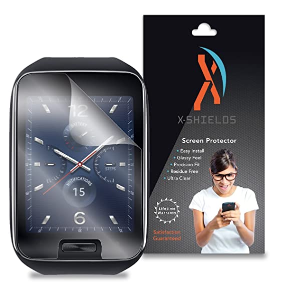 XShields© (4-Pack) Screen Protectors for Samsung Gear S Smartwatch (Ultra Clear)
