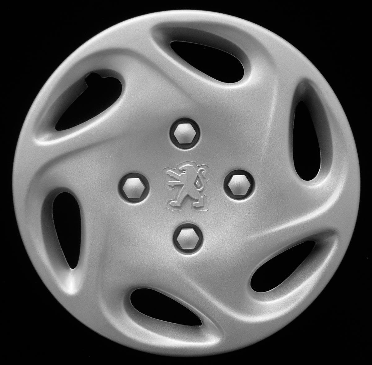Juego de 4 Tapacubos de 13 pulgadas, para Peugeot 206 desde 1998, no originales (número de parte 9349): Amazon.es: Coche y moto