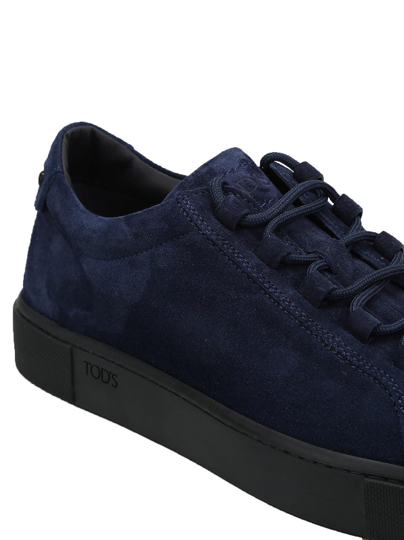 Tod s Sneaker in morbido Nabuk XXM56A0V430RE0U820 Blu Uomo  Amazon.fr   Chaussures et Sacs a583ebd9478