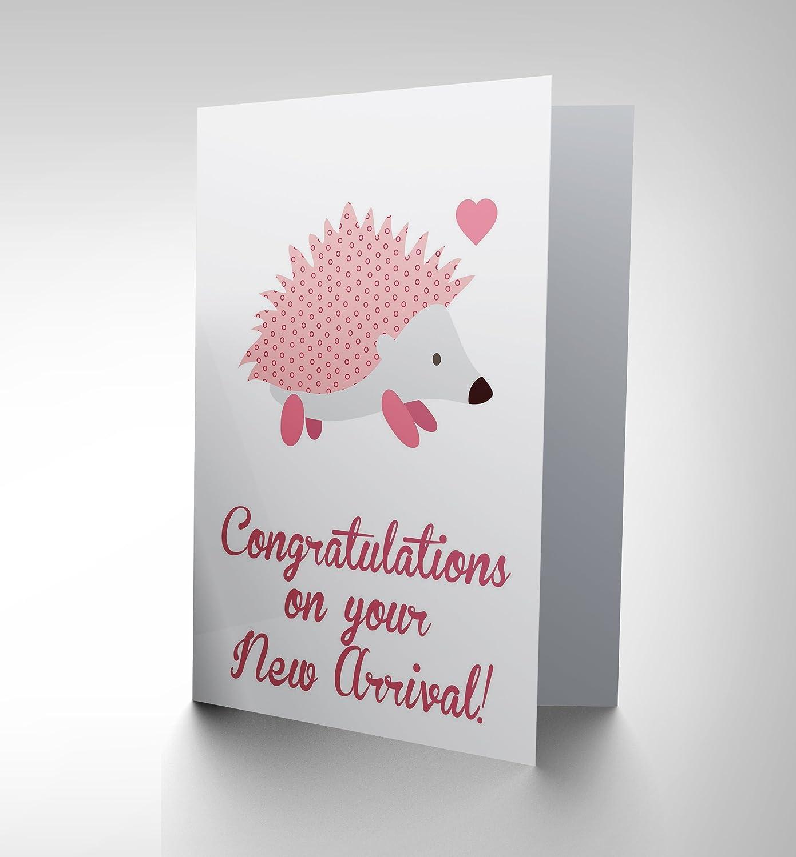 Amazon New New Baby Arrival Congratulations Hedgehog Art