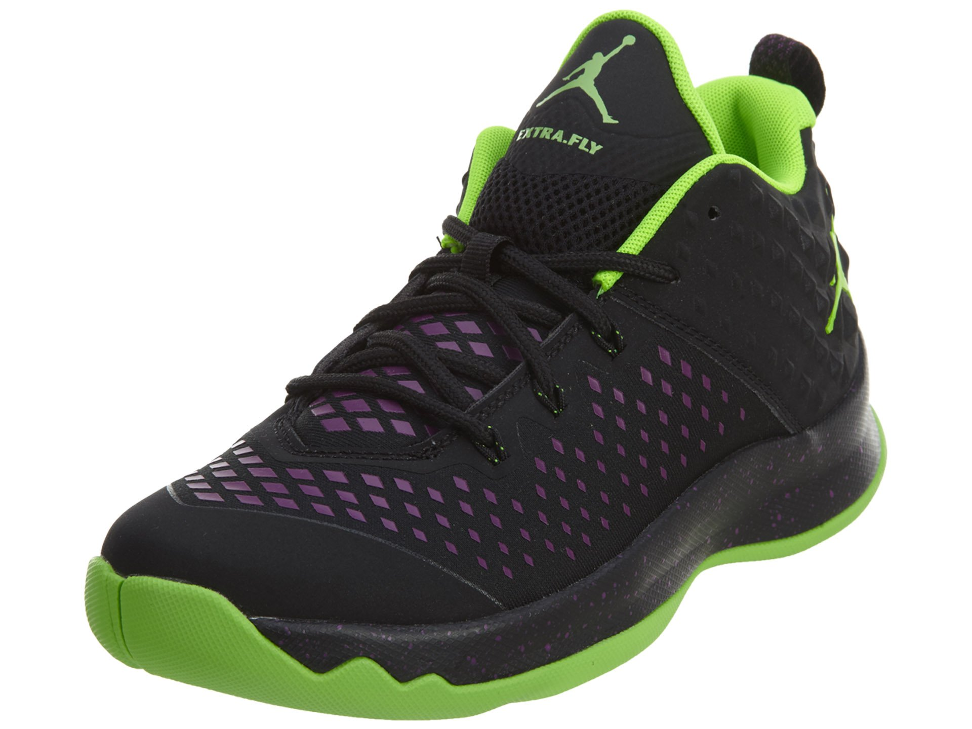 Jordan JORDAN EXTRA FLY BG BOYS basketball-shoes 854550-002_6.5Y - BLACK/ELECTRIC GREEN-BRIGHT GRAPE