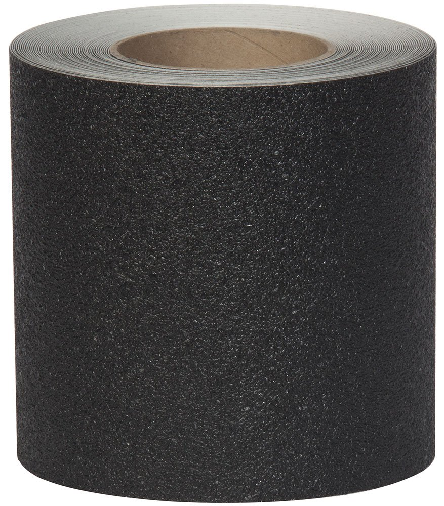 Jessup 4200-6 Flex Track Coarse Grade Non-Slip Vinyl Tape (Black, 6-Inch by 60-Foot Roll, 2-Pack) Jessup Manufacturing