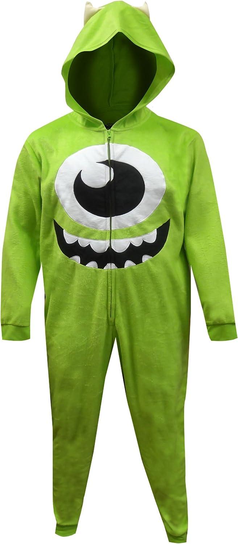 Mjc Disney Pixar Monsters Inc Mike Wazowski One Piece Pajama For Men Large X Large Green At Amazon Men S Clothing Store
