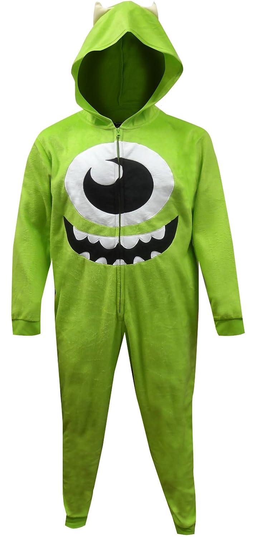 3147df22c MJC Disney Pixar Monsters Inc Mike Wazowski One Piece Pajama For Men -  Green - Large/X-Large: Amazon.co.uk: Clothing