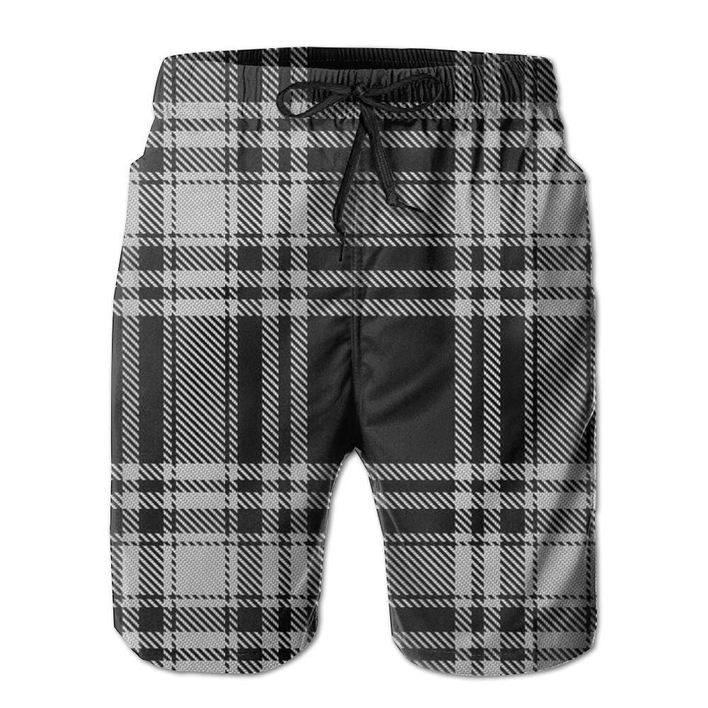 Horizon-t Beach Shorts Bufflao Plaid Mens Fashion Quick Dry Beach Shorts Cool Casual Beach Shorts