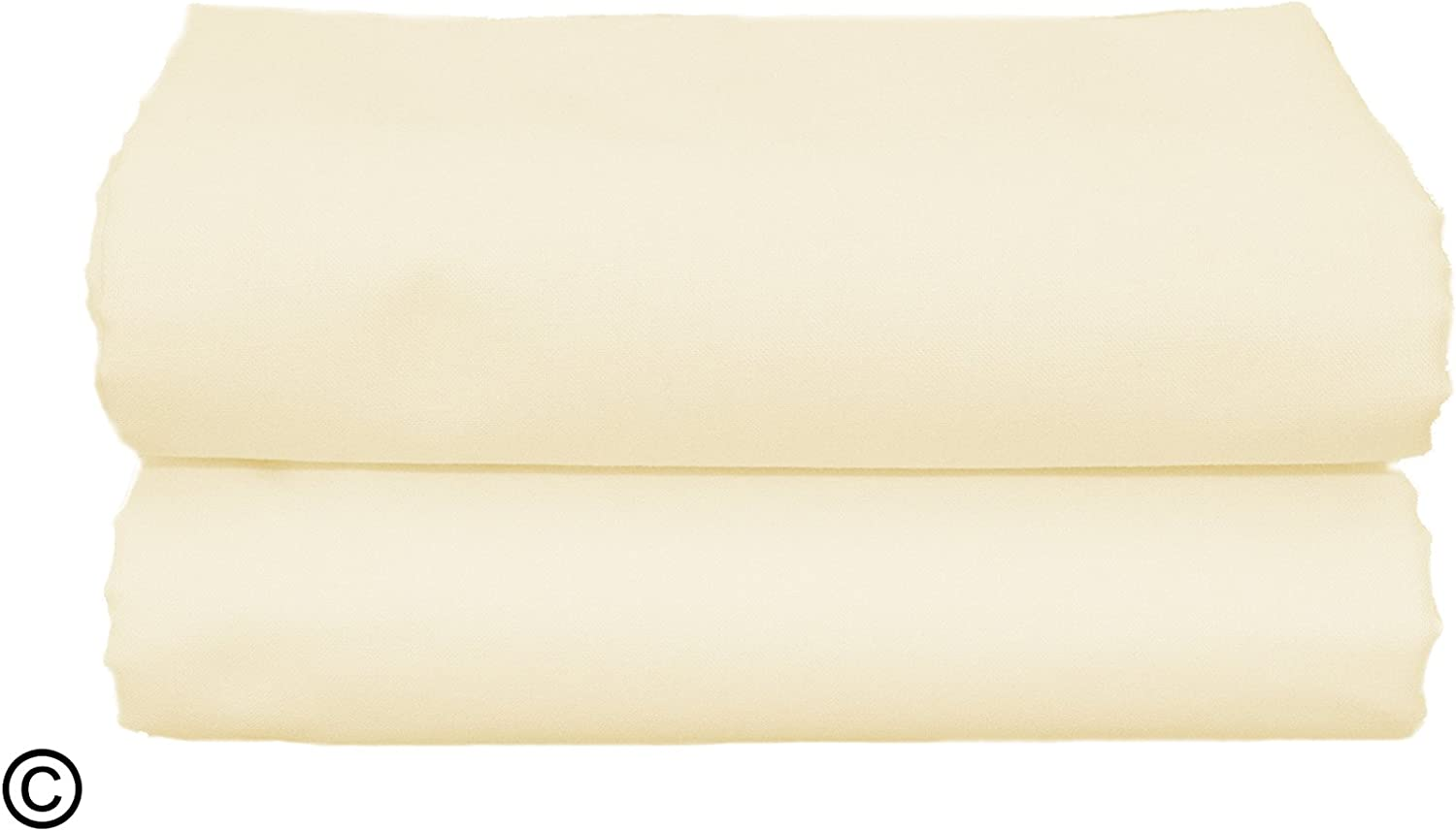 White Brand New Baby Cot Bed Pillow Case 60 x 40-100/% Cotton