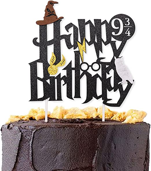 Amazon.com: Purpurina negro inspirado en Harry Potter feliz ...