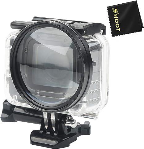 D&F Lente de filtro Macro cerca de 58 mm Lente de alta definición de aumento 10X para GoPro Hero 6/Hero 5/Hero 7 Negro/HERO(2018) Estuche impermeable original: Amazon.es: Electrónica