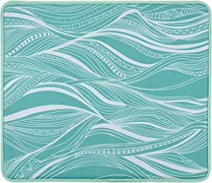 CM Multifunction Soft Neoprene Swimming Pool Mat Poolside Seating Mat Pool Cushion Pad Beach Mat for Beach Swimming Pool, 18 x 15.5 inches (Wave Pattern)