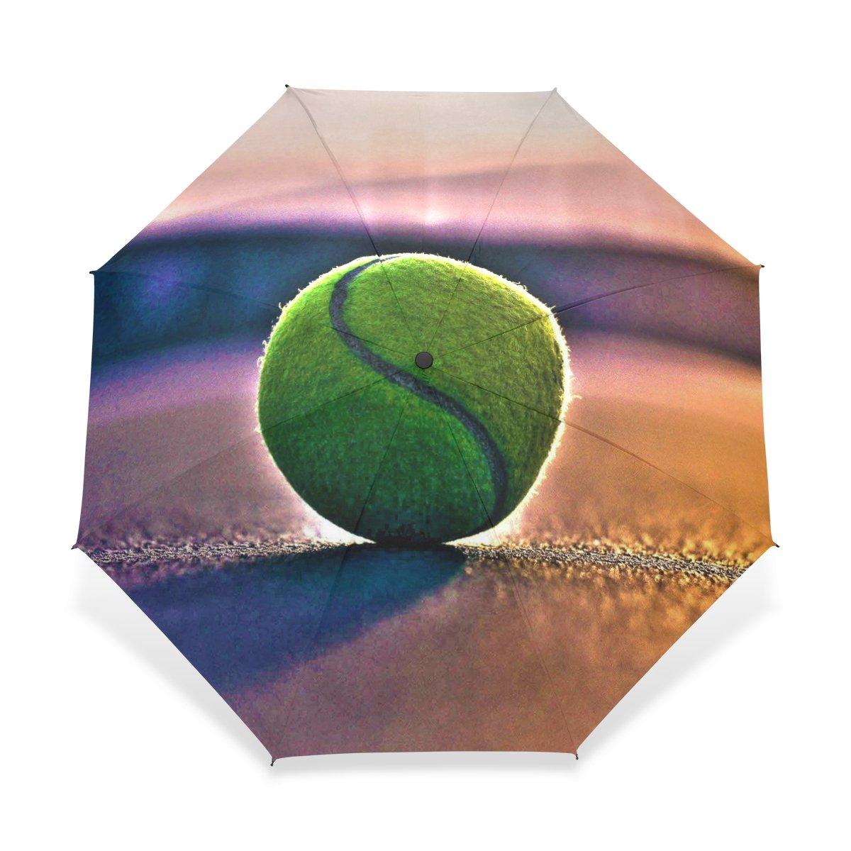 baihuishop防風ゴルフ傘、コンパクトで旅行for Easy Carryingスポーツ雨傘 – 強力なフレーム壊れないテニスパターン   B01FXHAGJE