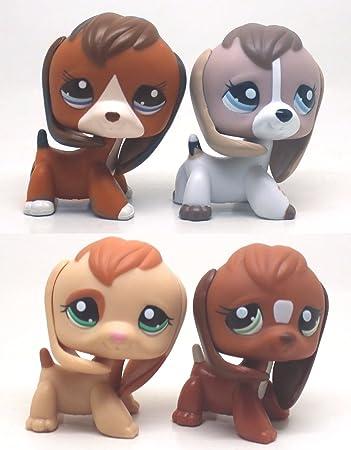 4pcs 1664 1104 1738 2207 Rare Littlest Pet Shop Beagle Puppy