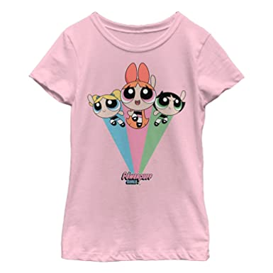 eb804671f Amazon.com: The Powerpuff Girls Girls' Rainbow Flight T-Shirt: Clothing
