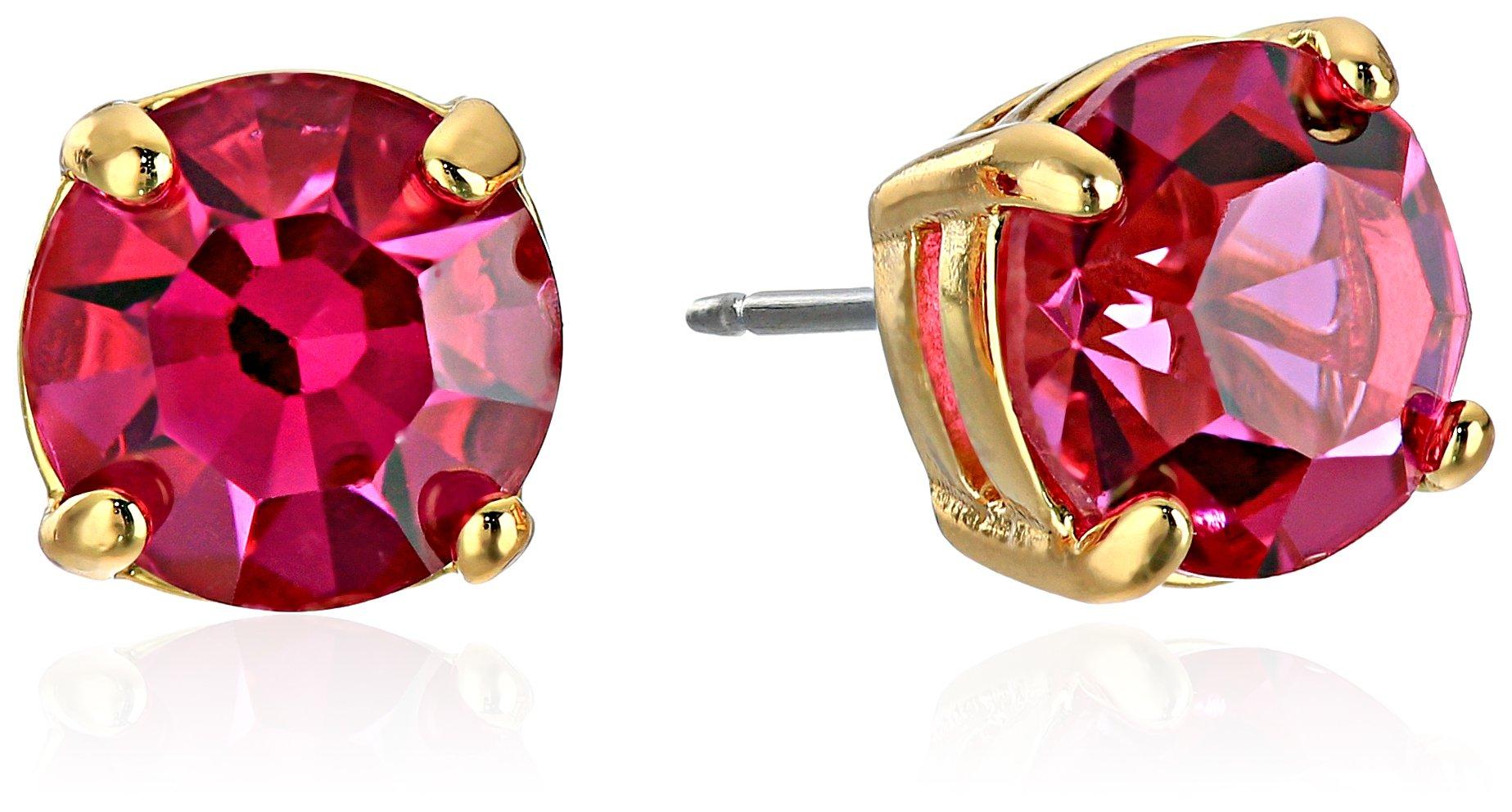 kate spade new york''Cueva Rosa'' Gold-Tone Pink Glass Stud Earrings