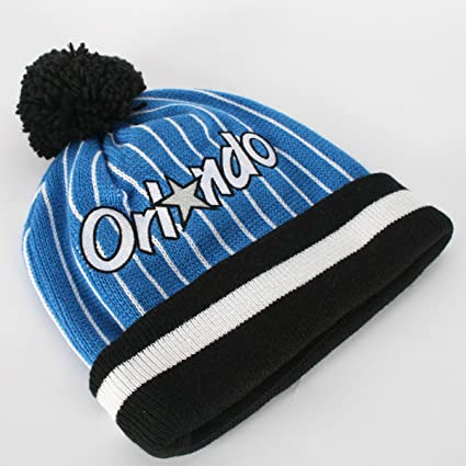 Amazon.com   Orlando Magic M N Jersey Stripe Cuffed Knit Hat ... 422494af835