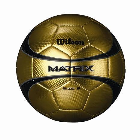Wilson balón de fútbol de Matriz de Oro: Amazon.es: Deportes y ...