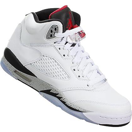 246fb5cd2da ... Jordan Air 5 Retro BG White Cement Kids Casual Sneakers - 4