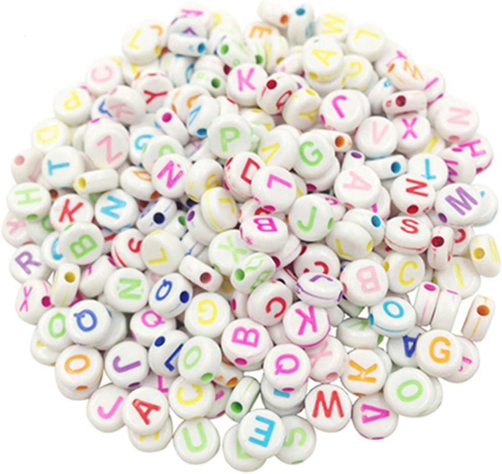 100PCS Spacer Acrylic Beads DIY Cube Making Loose Random Alphabet Jewelry DIY