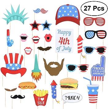 BESTOYARD Apoyos de la caseta de fotos patriótica el 4 de julio Apoyos de la foto