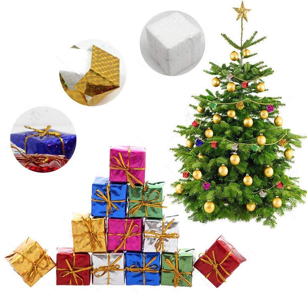 Christmas Trees Decor Hanging Gifts Box, Christmas Trees Furnishing Pendant Mini Colorful Foam Presents Hanging Decorations 12Pcs(2.5cm) Ebeauty
