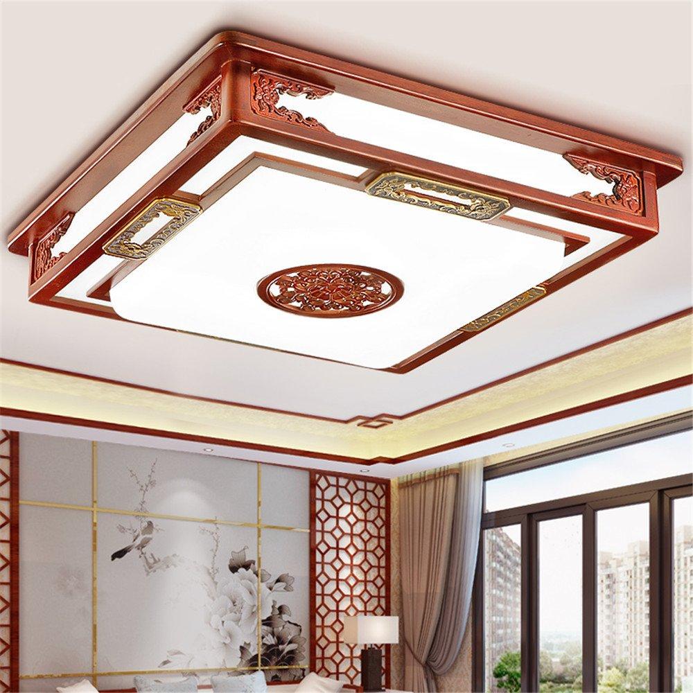 BRIGHTLLT Moderne chinesische Deckenleuchte Wohnzimmer Massivholz Arts Restaurant Schlafzimmer Studie Beleuchtung Acryl antike, 730 mm Lampen