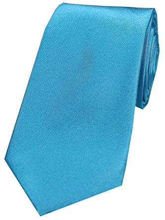 21a6602348e5 Turquoise Satin Silk Men's Tie: Amazon.co.uk: Clothing