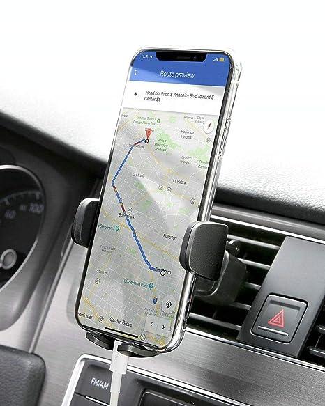 AUKEY Soporte Móvil Coche Rejillas del Aire 360 Grados Rotación Soporte Teléfono Coche Ventilación para iPhone XS / XS Max, Google Pixel 3 XL, ...