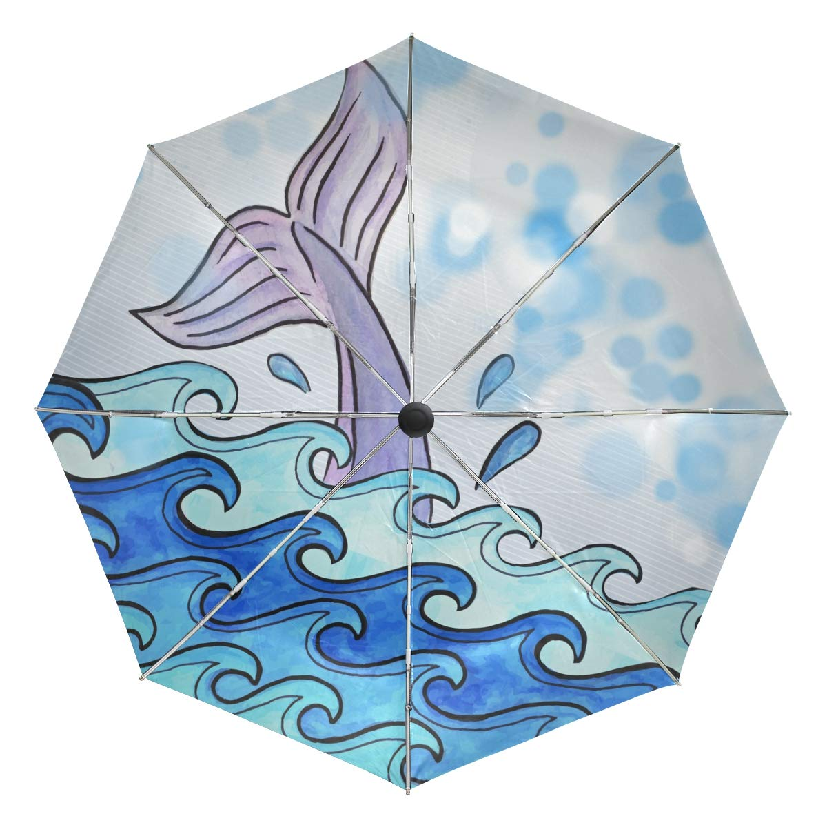 b65adfd2aaba Amazon.com: Whale Travel Umbrella Windproof,Anti UV Compact ...