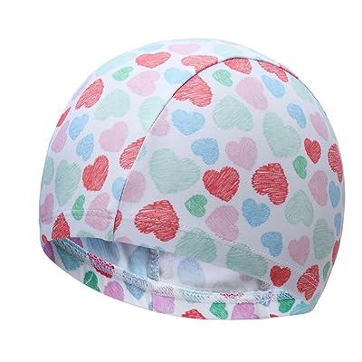 Bonnet de bain confortable de chapeau de natation d'enfant beaux garçons de chapeau et filles multicolores facultatifs ( Couleur : Style-3 )