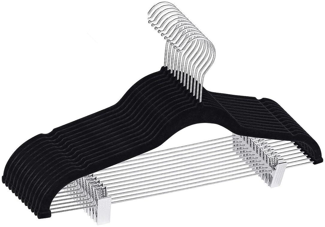 安らぎいまもっともらしいMAWA 人体ハンガー 10本組 ブラック