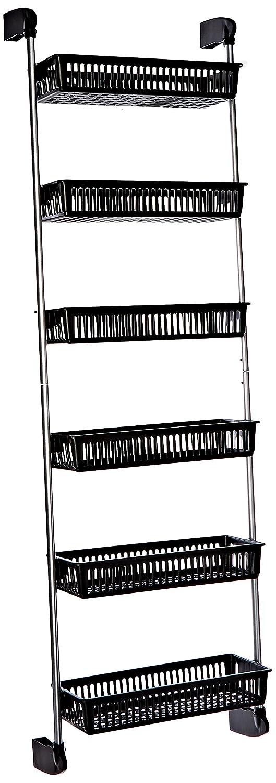 Neu Home Over the Door 6-Basket Hanging Storage Unit with Hooks