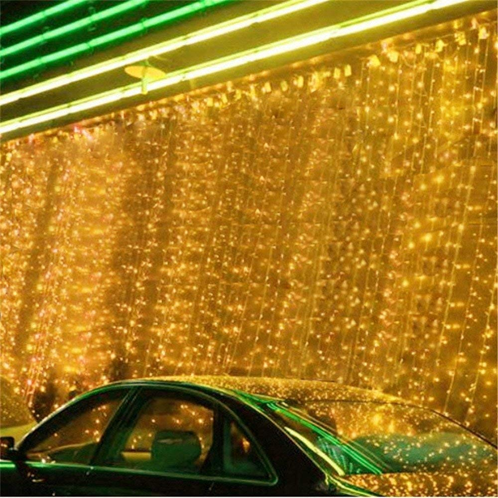 DulceCasa 6m X 10m 1008 Leds Tenda Luminosa Di Natale 200 Led Impermeabile Illuminano Tenda Luci Luce Per Interno Stringa Fata 220V Nozze Decorazione Di Natale 8 Modalità Bianco Caldo Waancai et Dan Co. Ltd