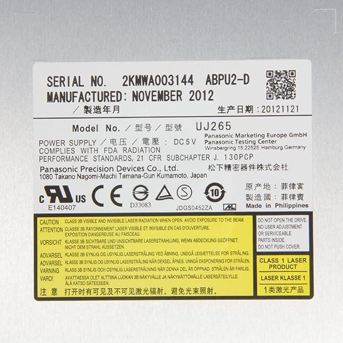 bezel faceplate face plate for Panasonic UJ-260 UJ-265 Blu-ray burner drive