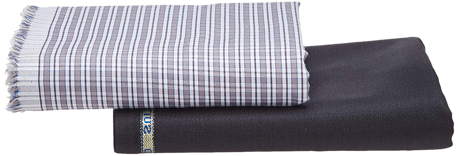 Raymond Men's Checkered Combo Fabric