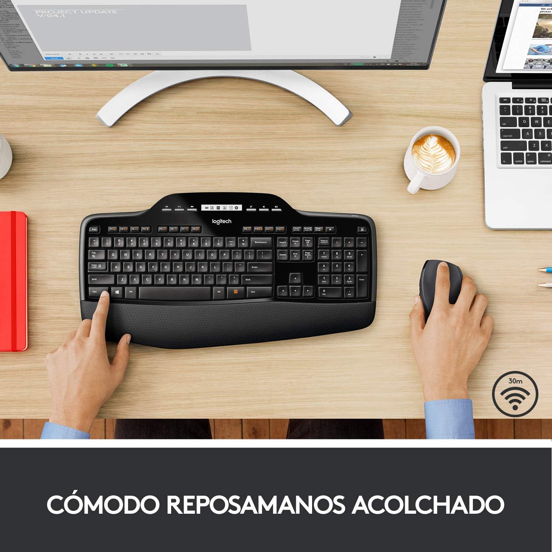 Logitech MK710 Combo Teclado y Ratón Inalámbrico para Windows, Conexión Inalámbrica 2,4 GHz, Ratón Inalámbrico, Teclas Multimedias, Batería de 3 Años, ...