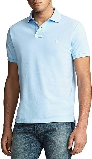 Polo Ralph Lauren Basic Azul Claro para Hombre: Amazon.es: Ropa y ...