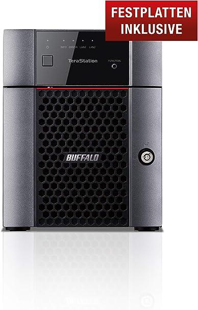 Buffalo TeraStation TS3410DN Ethernet Escritorio Negro NAS - Unidad Raid (8 TB, Unidad de Disco Duro, Unidad de Disco Duro, Serial ATA III, 4000 GB, 3.5