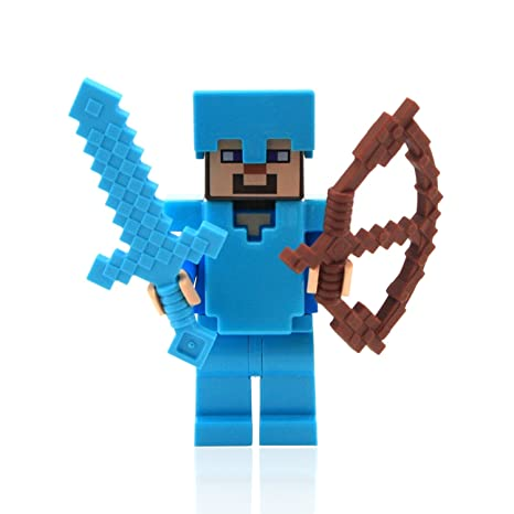 Amazon.com: LEGO Minecraft Steve with Diamond Armor and Sword: Toys & Games