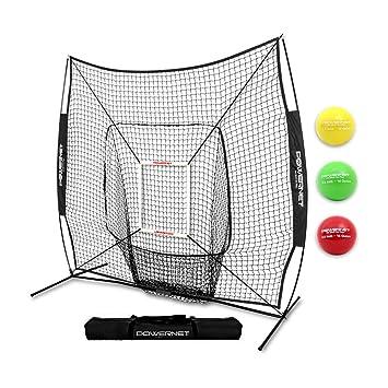 b849259ff PowerNet DLX 2.0 System (Black) | 7x7 Baseball Hitting Net + Weighted  Training Ball