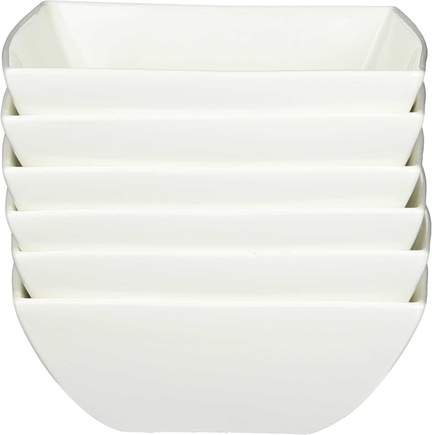 7-Inch Maxwell and Williams Basics East Meets West Square Soup Bowl White