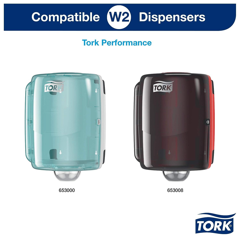 Tork 130081 Papel de secado extra fuerte para la industria / 2 paquetes / 3 capas/Paños de papel compatibles con el sistema W1 y W2 / Premium / 2 ...