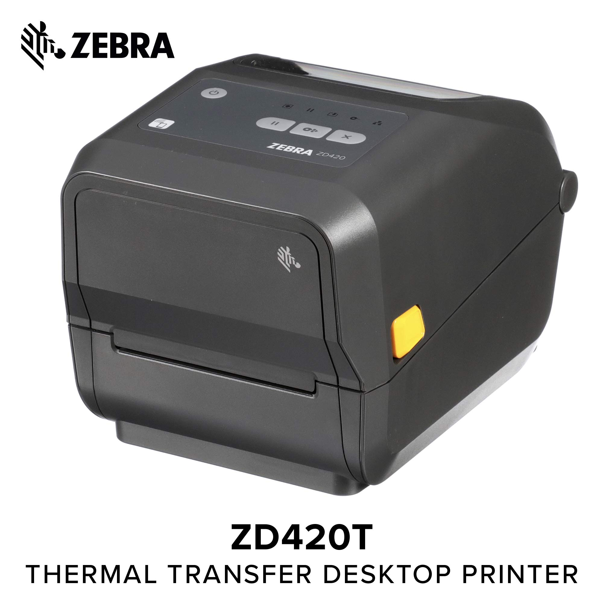 Zebra - ZD420d Direct Thermal Desktop Printer for Labels and Barcodes - Print Width 4 in - 203 dpi - Interface: USB, Ethernet - ZD42042-D01E00EZ